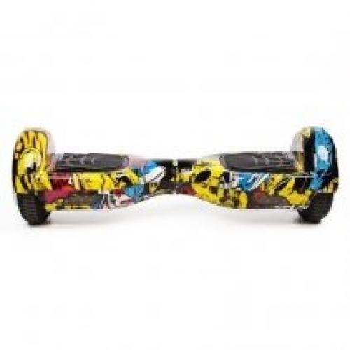 Hoverboard Koowheel S36 Yellow Graffiti 6 5 inch - Vehicule electrice - Hoverboard